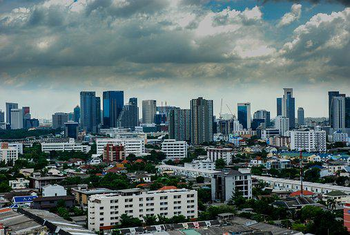 Bangkok, Thailand, Landscape, Urban, City, Capital