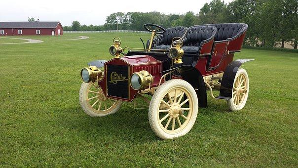 Cadillac, Antique Car, Free Image, Old Car, Vintage