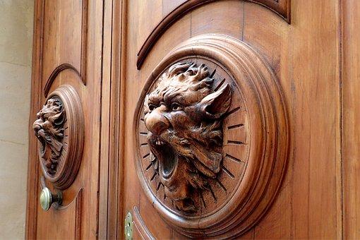 Wood, Door, Woods, Handle, Old, Ornament, Input