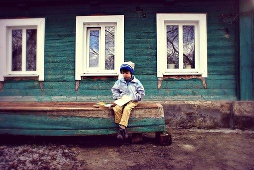 House, Window, People, Door, Family, Village, Kids