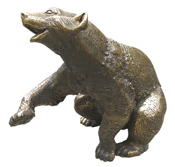 Bear, Animal Figure, Bronze Statue, Figure, Sculpture