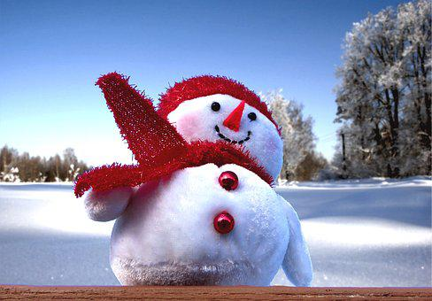Snowman, Winter, Snow, Christmas, Cold, Season, Sky