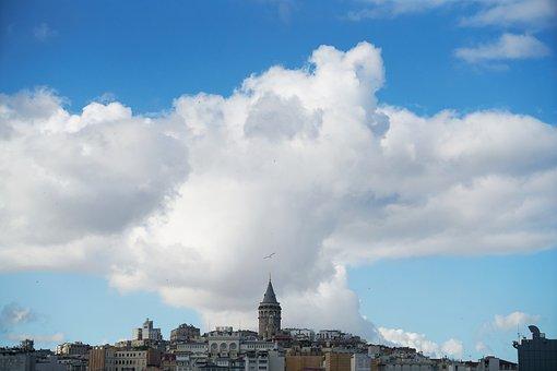 Architecture, Istanbul, Old, Landscape, Galata, Turkey