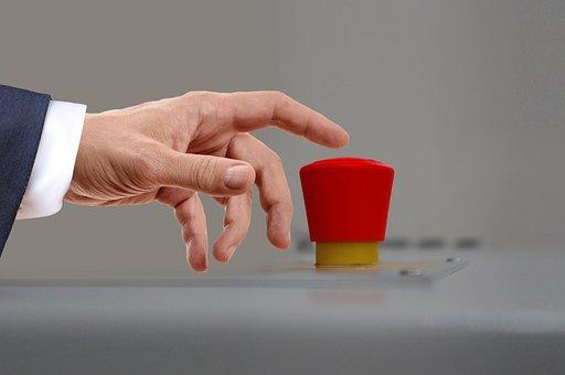 War, Nuclear War, Red, Button, Finger, Press, Trigger