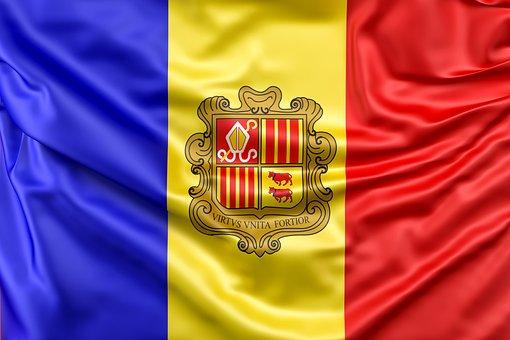 Andorra, Flag, Flag Of Andorra, Ensign, Europe, Nation
