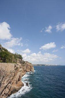 Landscape, Nature, Blue, Marine, Beach, Rocky, Clouds