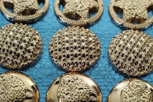Artifact, Bag, Detail, Metal, Macro, Button, Goods