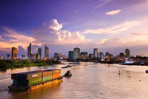 Ho Chi Minh, City, Vietnam, Sai Gon, Night, Sunset