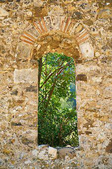 Wall, Old, Stone, Architecture, Nature, Window, Date