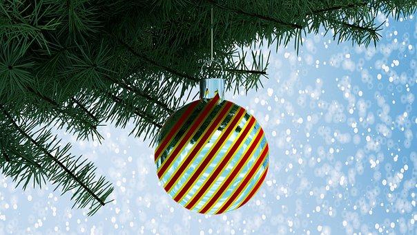 Ball, Christmas Decorations, Winter, Christmas, Tree