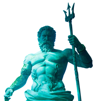Statue, Art, Sculpture, Trident, Poseidon, Triton