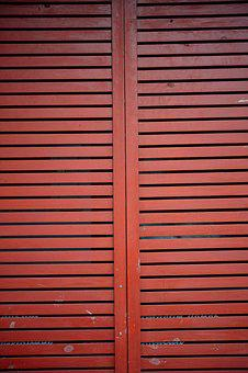Wood, Window, Red, Wood-fibre Boards, Texture