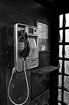 Phone, Phone Booth, Door, A, Security, Human, Antique