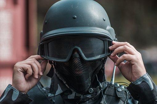 Combat Helmet, Male, Adult, Uniform, If