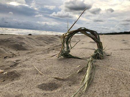 Baltic Sea, Usedom, Reed, Bound, Clouds, Beach, Sea