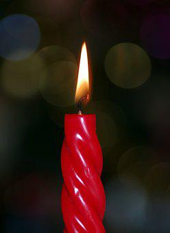 Candle, Red, Colors, Glow, Fancy, Candlelight, Burn