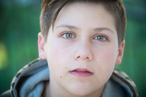 Boy, Adolescent, Child, Feelings, Person, Portrait