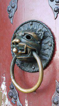 Art, Culture, Doorknocker, Lion Head