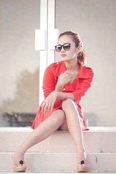 Woman, Young, Beautiful, Pretty, Fashion, Sit, Elegant