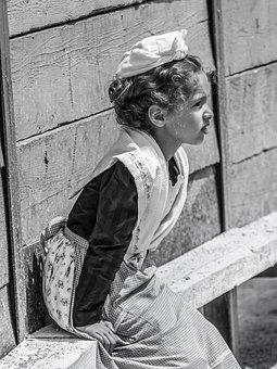 Camargue, Tradition, Young, Girl, Dress, Meeting