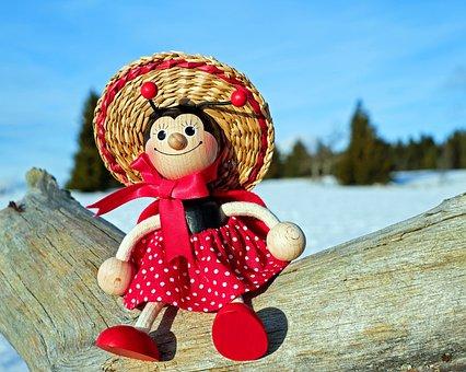 Ladybug, Figure, Wood, Funny, Lucky Charm, Sweet