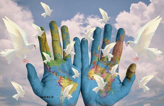 World, Harmony, Continents, Earth, Hope, Peace