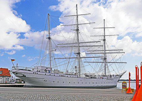 Stralsund, Port, Gorch Fock I, Sail Training Ship