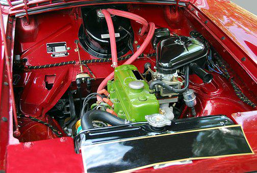 Car Engine, Motor, Retro, Engine, Car, Vehicle, Auto