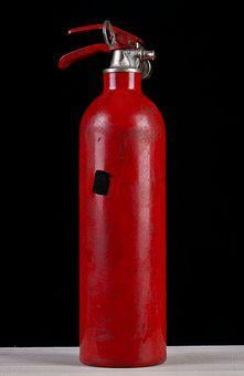 Fire Tube, Fire Extinguisher, Old, Red, Tube, Bottle