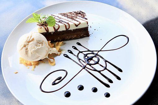 Brownie, Chocolate Cake, Ice Cream, Vanilla