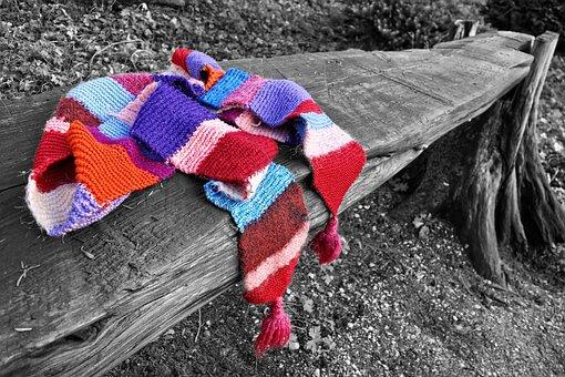 Scarf, Woolen, Woolen Scarf, Knitwear, Clothing, Warm