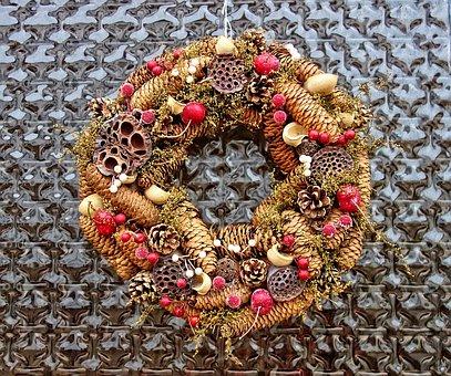 Wreath, Autumn Wreath, Fall, Fall Wreath, Decoration