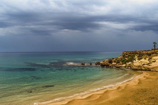 Cyprus, Kapparis, Beach, Empty, Autumn, End Of Season