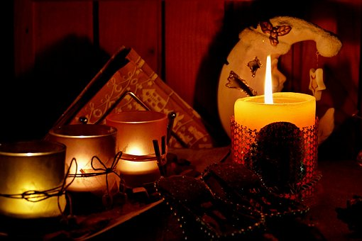 Candles, Burning, Tea Candle, Light, Flame, Christmas