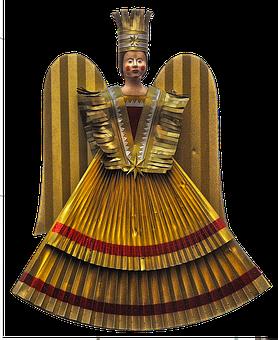 Angel, Gold Rush Angel, Christmas Decoration