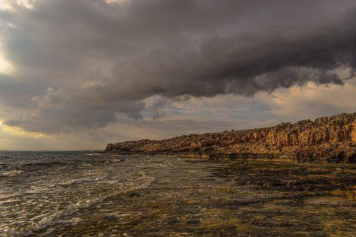 Sea, Sky, Nature, Autumn, Landscape, Overcast, Cliff