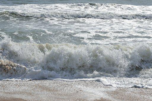 Surf, Wave, Water, Sea, Foam, Ocean, Beach, Seashore