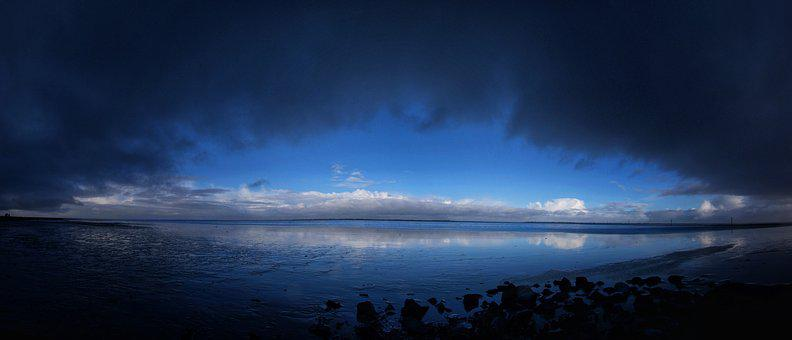 Nature, Sky, Waters, Panorama, Landscape, Sun, Sea