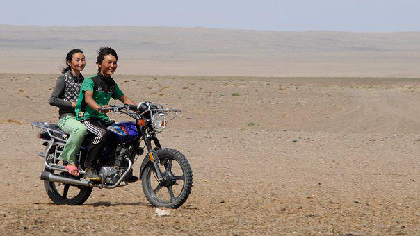 Mongolia, Joy, Desert, Youth, Mobility
