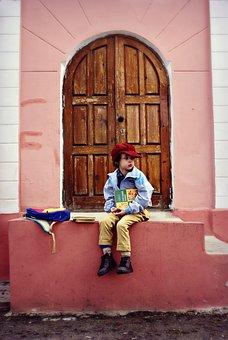 People, Village, Kids, Rustic, Doors, Threshold, Autumn