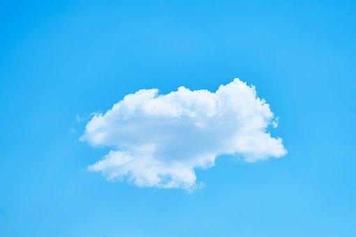 Cloud, Single, Blue, Nature, Sky, Fund, Texture