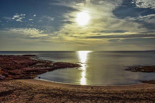 Sea, Seashore, Beach, Panoramic, Nature, Sky, Clouds