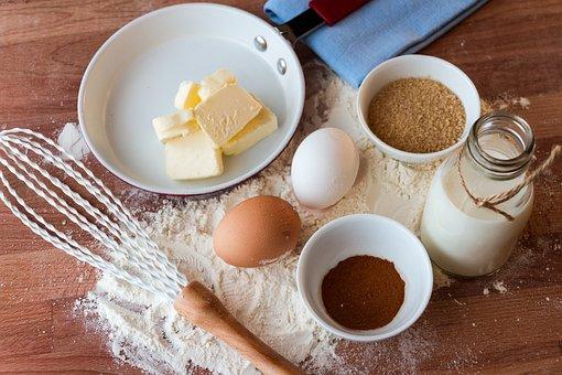 Food, Dessert, Cake, Eggs, Butter, Cocoa, Sugar, Milk