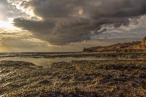 Rocky Coast, Sea, Sky, Nature, Autumn, Landscape