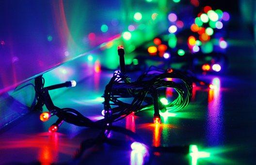Lit, Christmas, Luminous, Decoration, God, Wishes