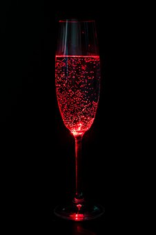 Glass, Champagne, Alcohol, New Year's Eve, Red