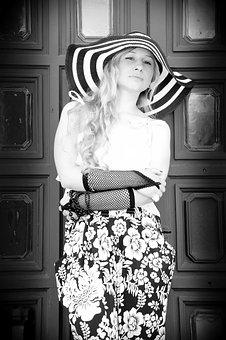 People, One, Portrait, Dress, Girl, Hat