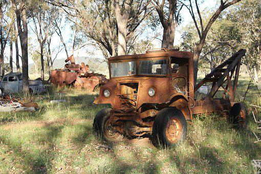 Vintage, Truck, Rusty, Rural, Crane