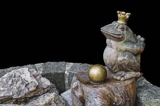 Frog Prince, Fairy Tales, Sculpture, Stone, Fountain