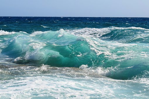 Wave, Transparent, Turquoise, Smashing, Wind, Nature